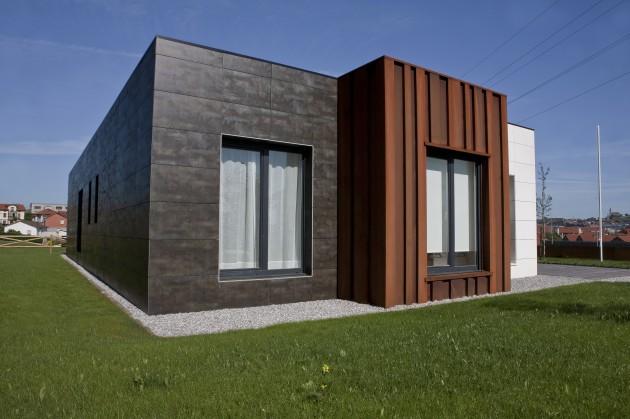 Casa de este alojamiento aislamiento de fachadas en for Casas prefabricadas galicia